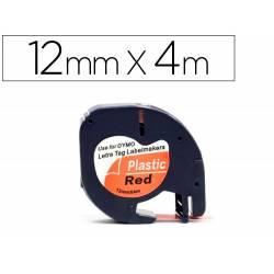 Cinta Letratag Negro/Rojo Q-connect 12mm x 4mt