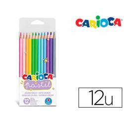 Lapices de colores Carioca Pastel Hexagonal con 12 colores