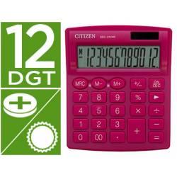 Calculadora sobremesa Citizen Modelo SDC-812 NRNVE Eco 12 dígitos Rosa