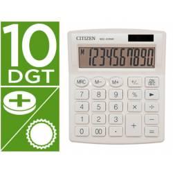 Calculadora sobremesa Citizen Modelo SDC-810 NRGNE 10 dígitos Blanco