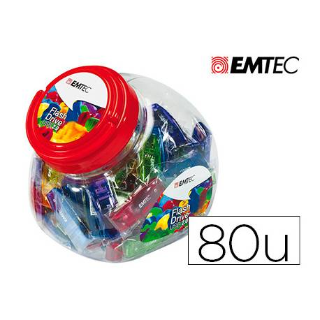 Memoria USB Flash de Emtec 32 GB 2.0 Colores Surtidos