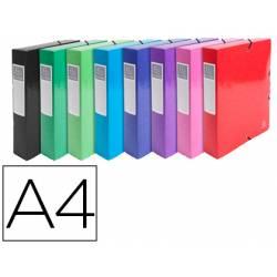Carpeta de proyecto Exacompta gomas carton plastificado DIN A4 Colores Surtidos (No se puede elegir color)