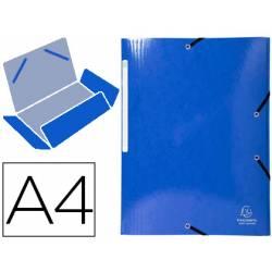 Carpeta de gomas Exacompta Din A4 Color Azul oscuro
