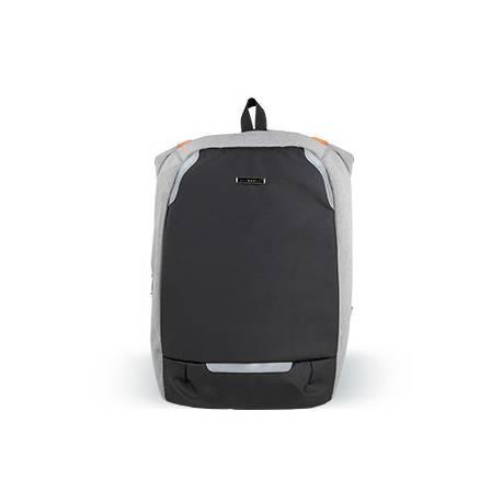"""Mochila para portatil Q-connect 18"""" negra / gris poliester impermeable 46x17x31 cm."""