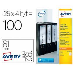 Etiqueta adhesiva Avery 31x192 mm Blanco Caja de 100 unidades