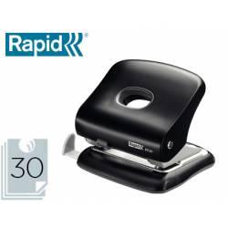 Taladrador Rapid FC30 negro capacidad para 30 hojas