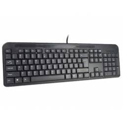 TECLADO Q-CONNECT NEGRO CON CABLE 1,5 M COMPATIBLE WINDOWS 95 / 98 / NT / ME / 2000 / XP / 7 / 8 / VISTA