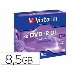 DVD+R VERBATIM Capacidad 8,5 GB duración 240 min