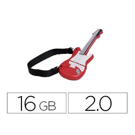 Memoria Flash USB de Technotech 16 GB Guitarra Red One