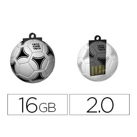 Memoria Flash USB de Technotech 16 GB Balon de Futbol gol-one
