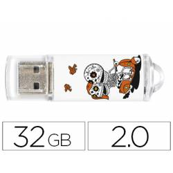 Memoria Flash USB de Techontech 32 GB Calavera Moto