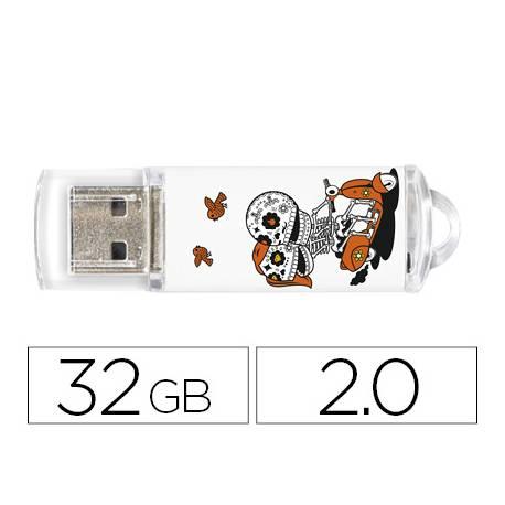 Memoria Flash USB de Techontech 32 GB Calavera Moto