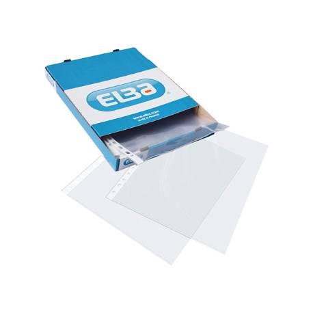 Funda multitaladro de Elba transparente Din A4 rugoso caja 100 unidades