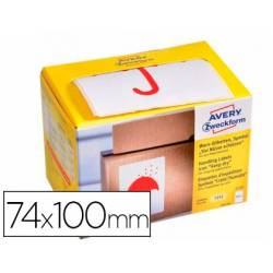 Etiquetas Adhesivas Avery Mantener en seco 74 x 100 mm rollo 200 etiquetas