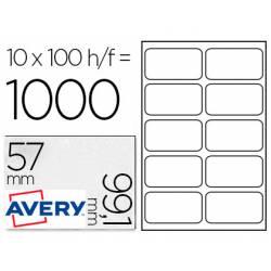 Etiquetas Adhesivas Avery. Caja con 1000 etiquetas 99.1x57mm