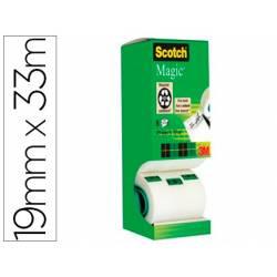 Cinta adhesiva Scotch Magic 33x19 mm Pack con 8 unidades