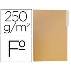 Subcarpeta de cartulina Gio Folio bicolor pestaña izquierda 250g/m2