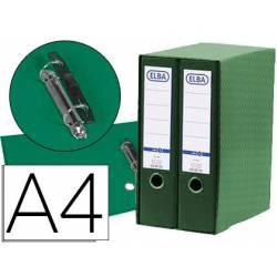 Modulo con 2 archivadores de palanca Elba color verde