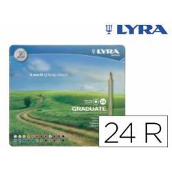 Lapices de colores Lyra Graduate Caja Metálica de 24 Colores Surtidos