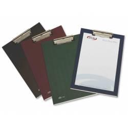 Portanotas plastico folio con pinza superior Pardo azul