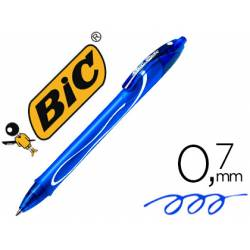 Bolígrafo Bic Gel-ocity Quick Dry Retráctil Punta Media 0,7 mm Color Azul