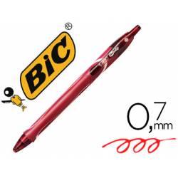 Bolígrafo Bic Gel-ocity Quick Dry Retráctil Punta Media 0,7 mm Color Rojo