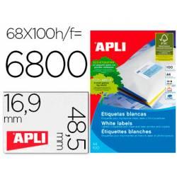 Etiquetas adhesivas Apli 48,5x16,9 mm ref 01282 caja de 100h