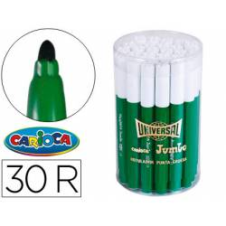 Rotulador Carioca Jumbo grueso caja 30 rotuladores verdes
