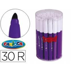 Rotulador Carioca Jumbo grueso caja 30 rotuladores violetas