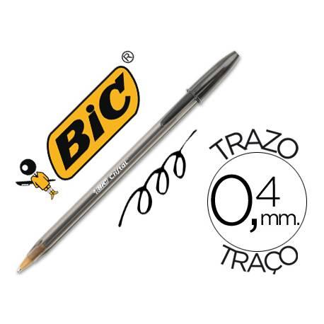 Boligrafo Bic Cristal color negro 0,4 mm