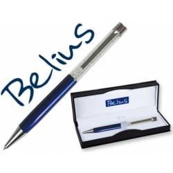 Bolígrafo Belius Granada 1mm Tinta Azul Color Azul con Cristales con Estuche