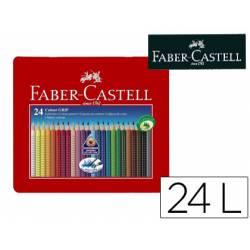 Lapices de Colores Marca Faber Castell 24 colores Accuarelable Colour Grip