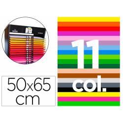 """Cartulina Gvarro 50x65 cm Contenido """"D"""" de Colores Surtidos 185gr"""