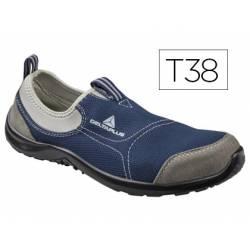 Zapatos de seguridad marca Deltaplus poliester talla 38