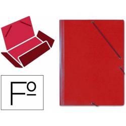 Carpeta Saro gomas solapas carton folio color rojo