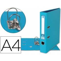 Archivador de palanca marca Liderpapel A4 celeste compresor metalico