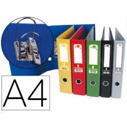 Archivador de Palanca Liderpapel Carton Forrado DIN A4 Lomo de 75 mm Colores Surtidos