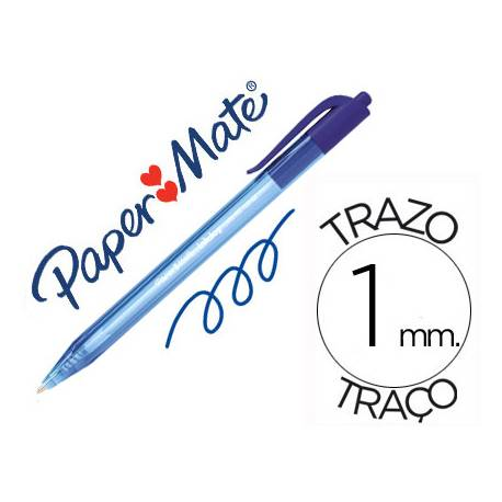 Boligrafo Paper Mate Inkjoy 100 retráctil azul 1 mm
