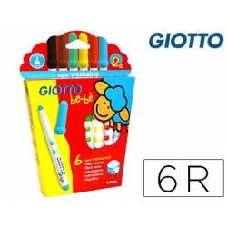 Rotulador Giotto Bebe Punta Gruesa Caja 6 colores