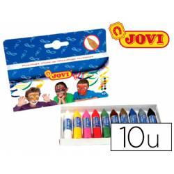 Barra maquillaje colores surtidos marca Jovi Caja de 10 unidades