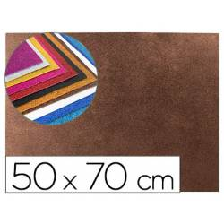 Goma Eva Liderpapel con purpurina 50x70cm 60g/m2 color marron
