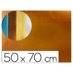 Goma eva Liderpapel Metalizada Naranja 50x70 cm