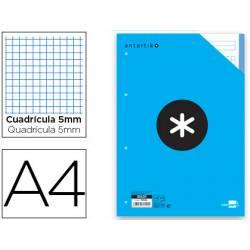 Recambio Antartik DIN A4 4 taladros 100 gr cuadrícula 5mm