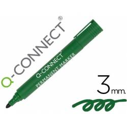 Rotulador Q-Connect punta de fibra permanente 3 mm color verde