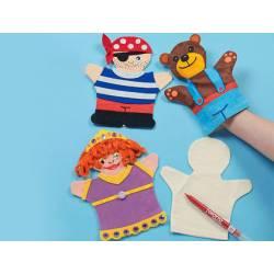 Marioneta Textil para niños blanco itKrea