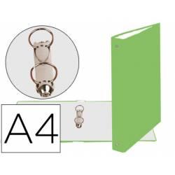 Carpeta 2 anillas de 30 mm Liderpapel A4 color verde anís