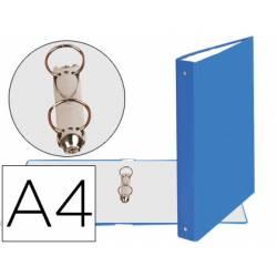 Carpeta Exacompta carton forrado azul claro 2 anillas