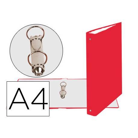 Carpeta Exacompta carton forrado roja 2 anillas