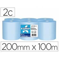 Papel secamanos Amoos color azul 2 capas