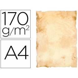 Papel pergamino Liderpapel papiros A4 170g/m2 pack 8 hojas